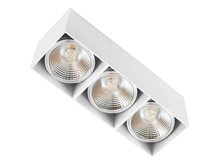 Potrójna ruchoma sufitowa oprawa natynkowa w kolorze białym AR ES111 Oprawa halogenowa Oprawa stropowa Prostokątne Oprawa ruchoma Kategoria Oprawy oświetleniowe