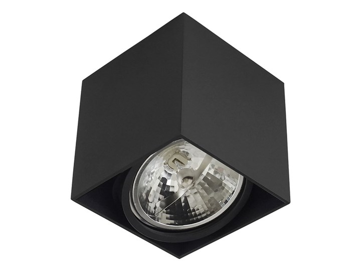 Wewnętrzna oprawa natynkowa sufitowa kwadrat AR111 GU10 czarna Kolor Czarny Kwadratowe Oprawa stropowa Oprawa halogenowa Kategoria Oprawy oświetleniowe