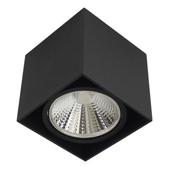 Wewnętrzna oprawa natynkowa sufitowa kwadrat AR111 GU10 czarna