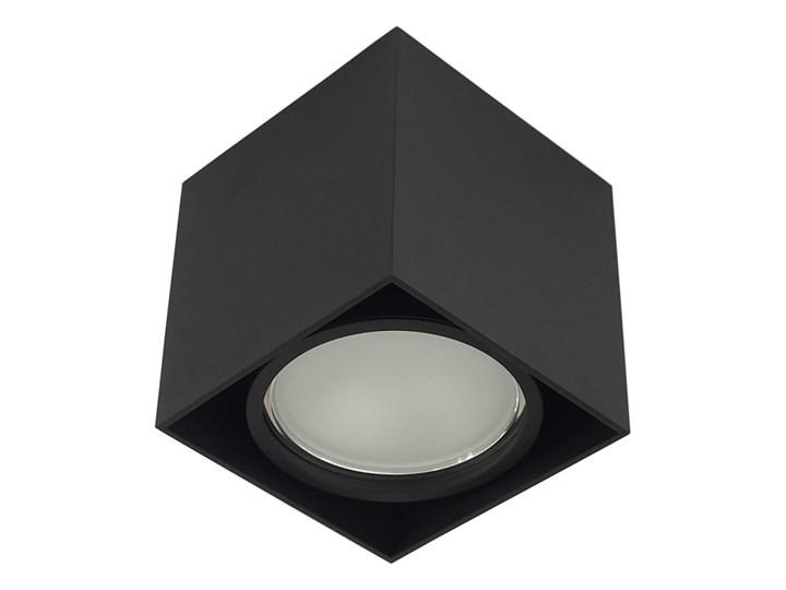 Wewnętrzna oprawa natynkowa sufitowa kwadrat AR111 GU10 czarna Oprawa halogenowa Kwadratowe Kolor Czarny Oprawa stropowa Kategoria Oprawy oświetleniowe