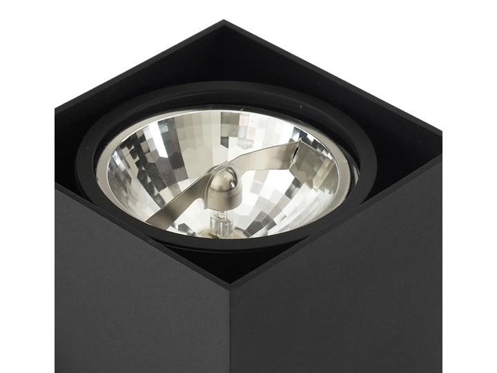 Wewnętrzna oprawa natynkowa sufitowa kwadrat AR111 GU10 czarna Kwadratowe Oprawa stropowa Oprawa halogenowa Kolor Czarny Kategoria Oprawy oświetleniowe