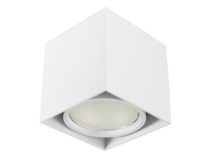 Wewnętrzna oprawa natynkowa sufitowa kwadrat AR111 GU10 biała Oprawa stropowa Oprawa halogenowa Kwadratowe Kolor Biały Kategoria Oprawy oświetleniowe