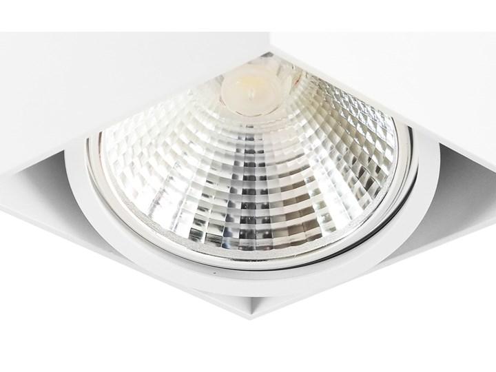 Wewnętrzna oprawa natynkowa sufitowa kwadrat AR111 GU10 biała Kwadratowe Oprawa halogenowa Oprawa stropowa Kolor Biały