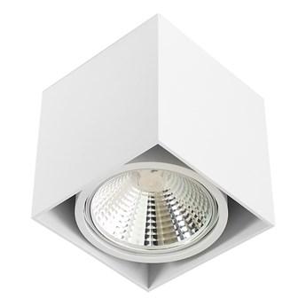 Wewnętrzna oprawa natynkowa sufitowa kwadrat AR111 GU10 biała