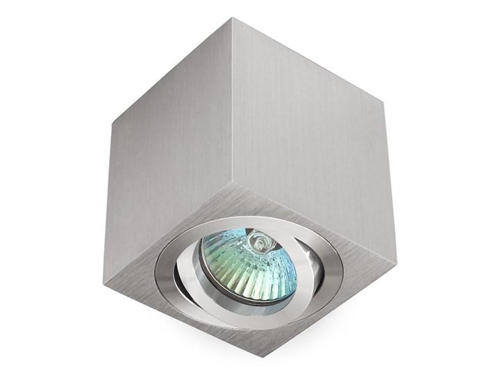 Oprawa natynkowa duce kostka aluminium szczotkowane HDL103AL Oprawa stropowa Oprawa halogenowa Kwadratowe Kategoria Oprawy oświetleniowe