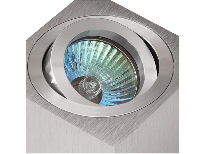Oprawa natynkowa duce kostka aluminium szczotkowane HDL103AL Oprawa halogenowa Kwadratowe Oprawa stropowa Kategoria Oprawy oświetleniowe