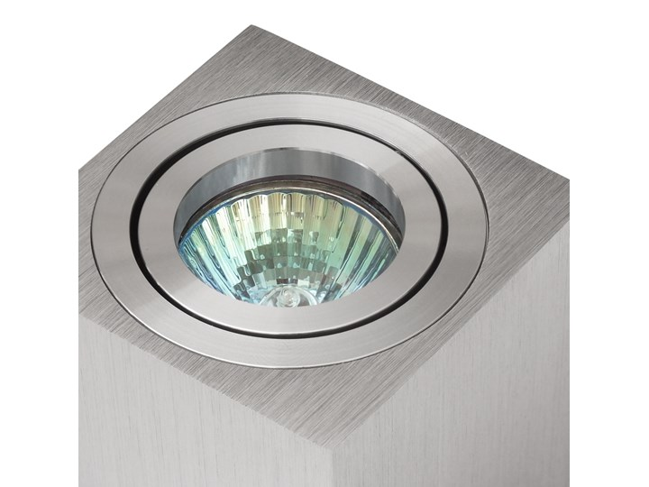 Oprawa natynkowa duce kostka aluminium szczotkowane HDL103AL Oprawa stropowa Kwadratowe Kategoria Oprawy oświetleniowe Oprawa halogenowa Kolor Szary