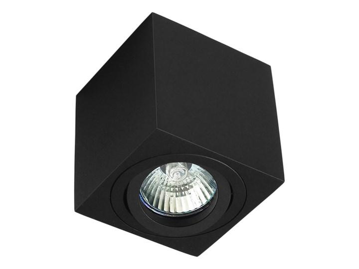 Oprawa natynkowa duce kostka aluminiowa czarny mat czarna HDL103BK Oprawa stropowa Kwadratowe Oprawa halogenowa Kategoria Oprawy oświetleniowe