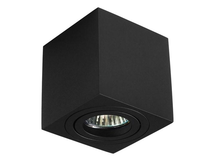 Oprawa natynkowa duce kostka aluminiowa czarny mat czarna HDL103BK Oprawa stropowa Oprawa halogenowa Kwadratowe Kategoria Oprawy oświetleniowe