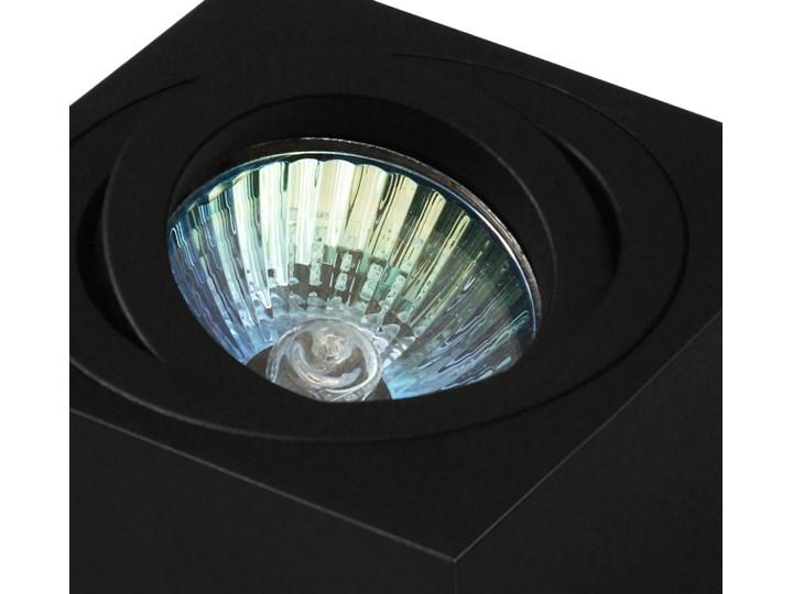 Oprawa natynkowa duce kostka aluminiowa czarny mat czarna HDL103BK Oprawa halogenowa Kwadratowe Oprawa stropowa Kategoria Oprawy oświetleniowe