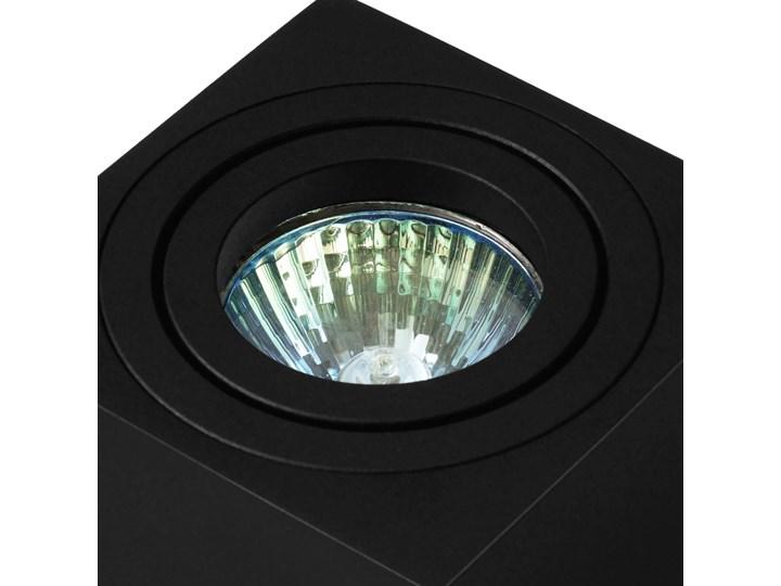 Oprawa natynkowa duce kostka aluminiowa czarny mat czarna HDL103BK Kwadratowe Oprawa halogenowa Oprawa stropowa Kategoria Oprawy oświetleniowe