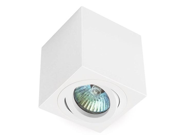 Oprawa natynkowa duce kostka aluminiowa biały mat biała HDL103WH Oprawa stropowa Kwadratowe Oprawa halogenowa Kategoria Oprawy oświetleniowe