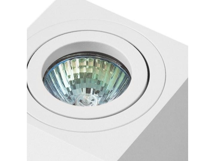 Oprawa natynkowa duce kostka aluminiowa biały mat biała HDL103WH Kwadratowe Oprawa halogenowa Oprawa stropowa Kategoria Oprawy oświetleniowe