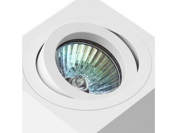 Oprawa natynkowa duce kostka aluminiowa biały mat biała HDL103WH Oprawa stropowa Oprawa halogenowa Kwadratowe Kategoria Oprawy oświetleniowe