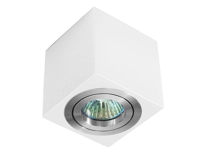 Oprawa natynkowa duce kostka aluminiowa biały mat aluminium wysoki połysk HDL103WH/AL WP Oprawa stropowa Oprawa halogenowa