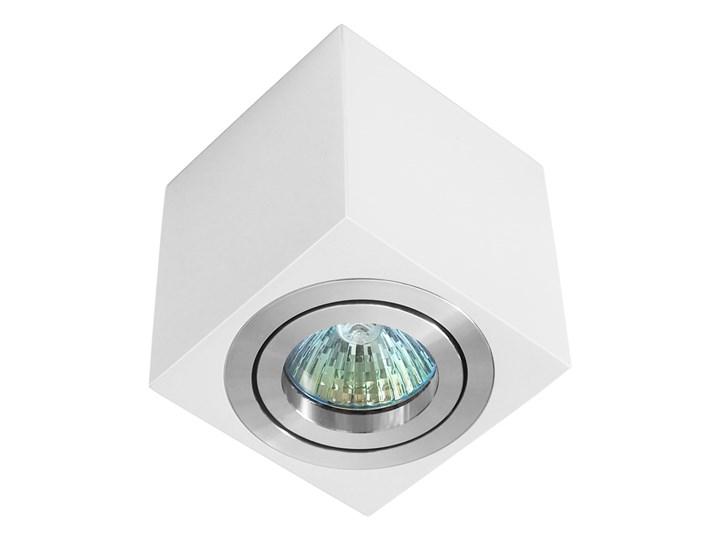 Oprawa natynkowa duce kostka aluminiowa biały mat aluminium wysoki połysk HDL103WH/AL WP Oprawa stropowa Kwadratowe Oprawa halogenowa Kategoria Oprawy oświetleniowe
