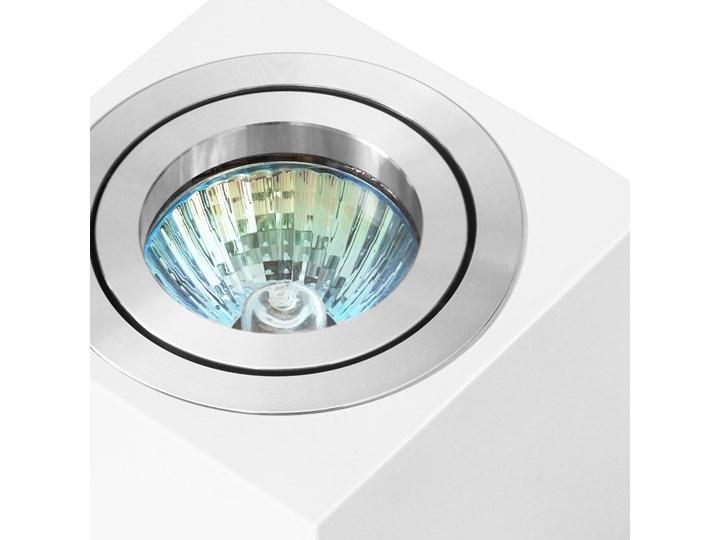 Oprawa natynkowa duce kostka aluminiowa biały mat aluminium HDL103WH/AL Oprawa stropowa Oprawa halogenowa Kwadratowe Kategoria Oprawy oświetleniowe