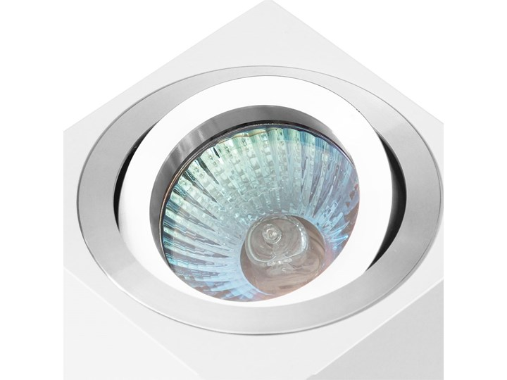 Oprawa natynkowa duce kostka aluminiowa biały mat aluminium HDL103WH/AL Kwadratowe Oprawa halogenowa Oprawa stropowa Kategoria Oprawy oświetleniowe
