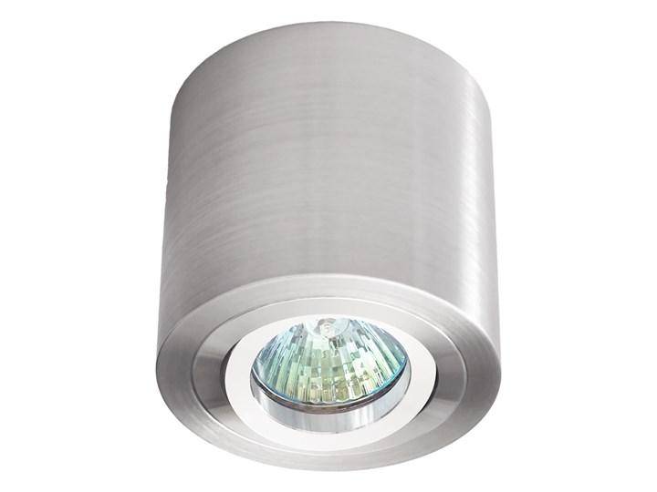 Sufitowa oprawa natynkowa, okrągła, tuba, aluminium szczotkowane aluminiowa Oprawa halogenowa Kategoria Oprawy oświetleniowe Okrągłe Oprawa stropowa Kolor Szary