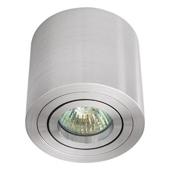 Sufitowa oprawa natynkowa, okrągła, tuba, aluminium szczotkowane aluminiowa