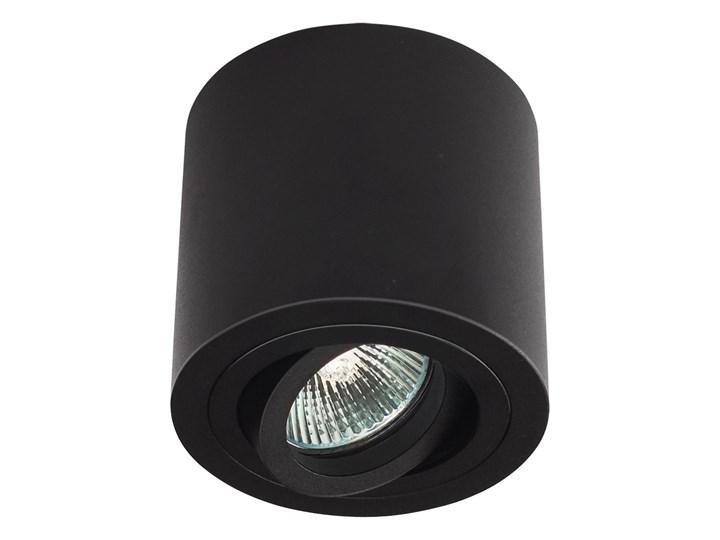Sufitowa oprawa natynkowa, okrągła, tuba, czarny mat aluminiowa Oprawa stropowa Okrągłe Oprawa halogenowa Kategoria Oprawy oświetleniowe