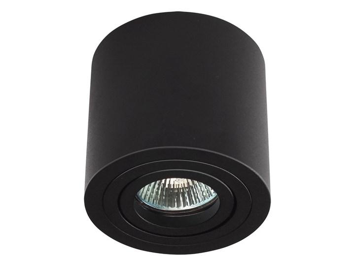 Sufitowa oprawa natynkowa, okrągła, tuba, czarny mat aluminiowa Okrągłe Oprawa stropowa Oprawa halogenowa