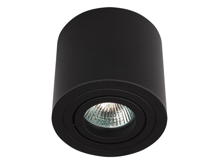 Sufitowa oprawa natynkowa, okrągła, tuba, czarny mat aluminiowa Oprawa halogenowa Oprawa stropowa Okrągłe Kategoria Oprawy oświetleniowe