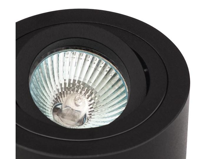 Sufitowa oprawa natynkowa, okrągła, tuba, czarny mat aluminiowa Oprawa halogenowa Okrągłe Oprawa stropowa Kategoria Oprawy oświetleniowe