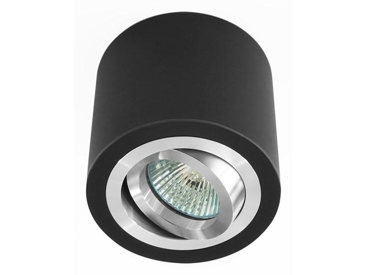 Sufitowa oprawa natynkowa, okrągła, tuba, czarna aluminium,czarny mat, aluminiowa Okrągłe Oprawa halogenowa Oprawa stropowa Kategoria Oprawy oświetleniowe
