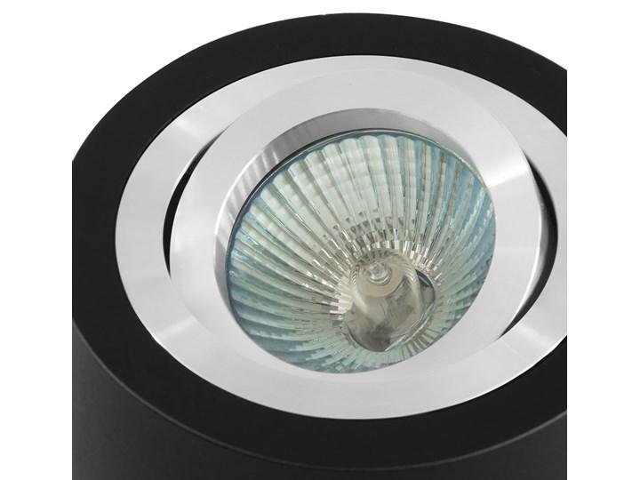 Sufitowa oprawa natynkowa, okrągła, tuba, czarna aluminium,czarny mat, aluminiowa Oprawa stropowa Oprawa halogenowa Okrągłe Kategoria Oprawy oświetleniowe