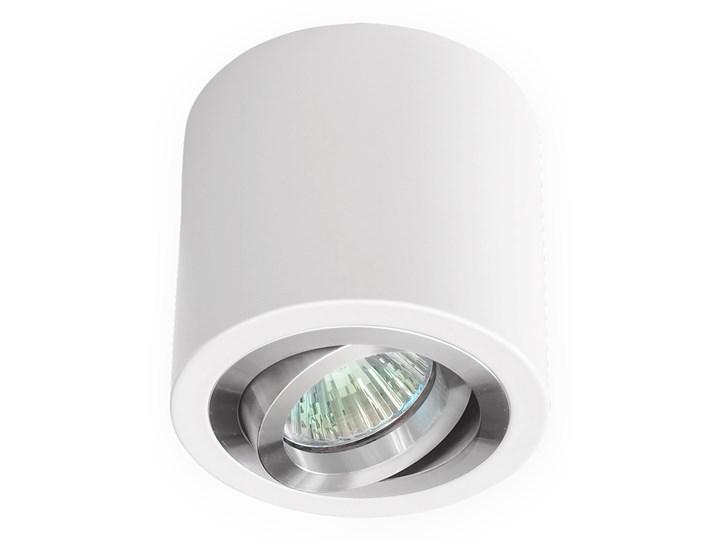 Sufitowa oprawa natynkowa, okrągła, tuba, biała aluminium, biały mat, aluminiowa Oprawa stropowa Oprawa halogenowa Okrągłe Kategoria Oprawy oświetleniowe