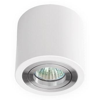 Sufitowa oprawa natynkowa, okrągła, tuba, biała aluminium, biały mat, aluminiowa
