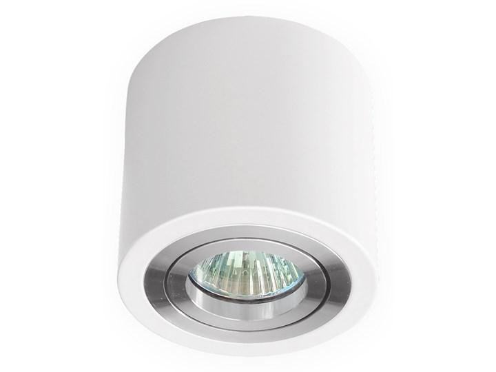Sufitowa oprawa natynkowa, okrągła, tuba, biała aluminiowa,biały połysk, aluminiowa Oprawa halogenowa Oprawa stropowa Okrągłe Kategoria Oprawy oświetleniowe