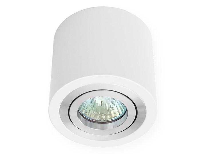 Sufitowa oprawa natynkowa, okrągła, tuba, biała aluminiowa,biały połysk, aluminiowa Okrągłe Oprawa stropowa Oprawa halogenowa Kategoria Oprawy oświetleniowe