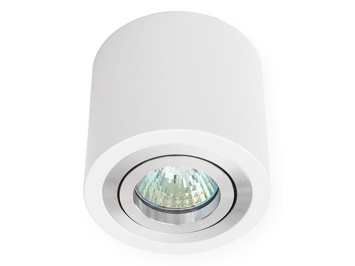 Sufitowa oprawa natynkowa, okrągła, tuba, biała aluminium, biały mat, aluminiowa Okrągłe Oprawa halogenowa Oprawa stropowa Kategoria Oprawy oświetleniowe