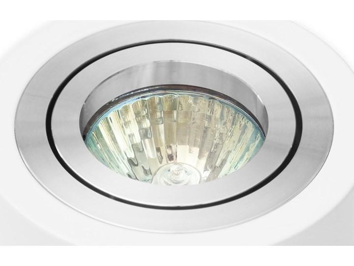 Sufitowa oprawa natynkowa, okrągła, tuba, biała aluminium, biały mat, aluminiowa Okrągłe Oprawa stropowa Oprawa halogenowa Kategoria Oprawy oświetleniowe