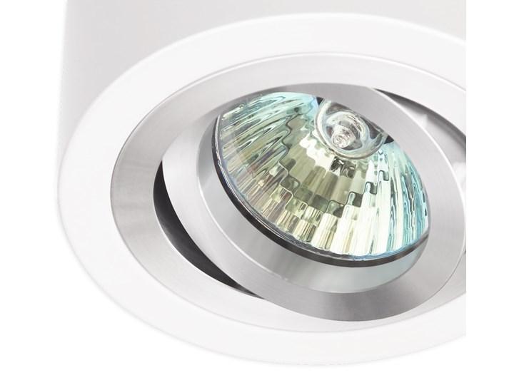 Sufitowa oprawa natynkowa, okrągła, tuba, biała aluminium, biały mat, aluminiowa Oprawa halogenowa Oprawa stropowa Okrągłe Kategoria Oprawy oświetleniowe