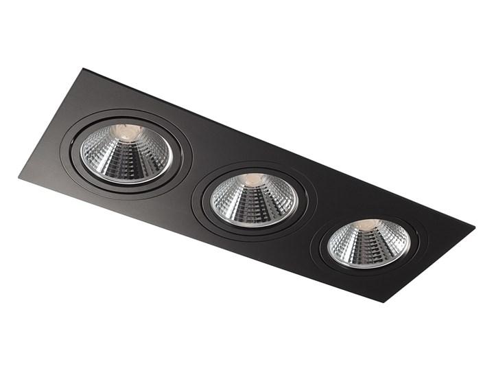 Potrójna ruchoma sufitowa podtynkowa oprawa ES111 AR111 QR111 czarna Prostokątne Oprawa stropowa Kolor Czarny Oprawa halogenowa Oprawa ruchoma Kategoria Oprawy oświetleniowe