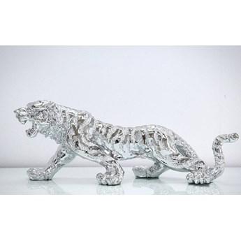 Srebrna figurka Tygrys 77x22x28cm