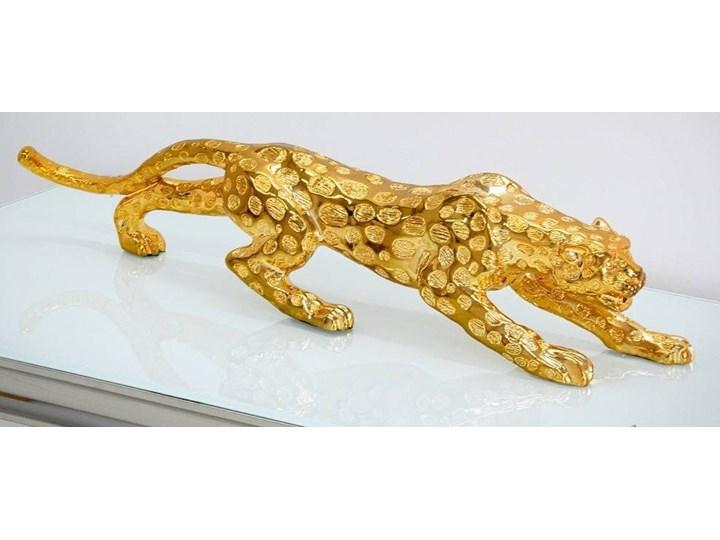 Złota figurka Gepard 76x15x21 cm