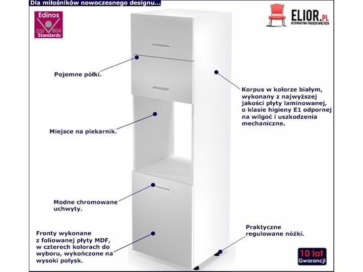 Kuchenna szafka do zabudowy piekarnika Limo 15X - biały połysk Płyta MDF Kategoria Szafki kuchenne