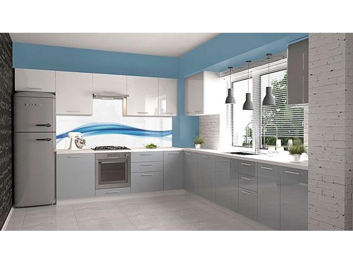 Kuchenna narożna szafka zlewozmywakowa Limo 16X - biały połysk Szafka narożna Kategoria Szafki kuchenne Płyta MDF Kolor Szary