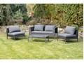 Szary zestaw mebli ogrodowych ze sztucznego rattanu Le Bonom Diamond Zawartość zestawu Sofa Zestawy wypoczynkowe Zawartość zestawu Fotele