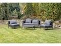 Szary zestaw mebli ogrodowych ze sztucznego rattanu Le Bonom Diamond Zestawy wypoczynkowe Zawartość zestawu Sofa