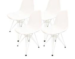 4 krzesła DSR Milano białe, nogi białe