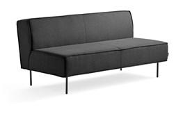 Sofa COPENHAGEN, 2 miejsca, tkanina, antracyt