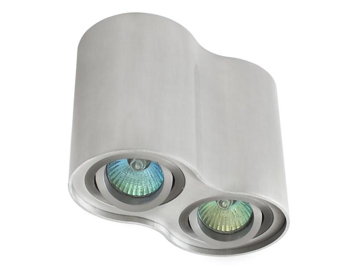 Oprawa podwójna natynkowa okrągła tuba MR16 GU10 aluminium wewnętrzna Kategoria Oprawy oświetleniowe Okrągłe Oprawa halogenowa Oprawa stropowa Oprawa led Kolor Szary