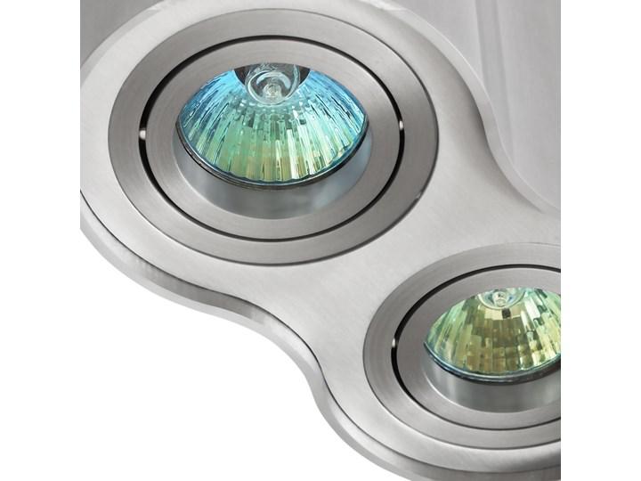 Oprawa podwójna natynkowa okrągła tuba MR16 GU10 aluminium wewnętrzna Oprawa stropowa Kategoria Oprawy oświetleniowe Oprawa halogenowa Okrągłe Oprawa led Kolor Szary