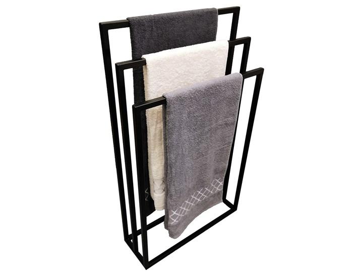 WIESZAK STOJAK NA RĘCZNIKI LOFT , INDUSTRIALNY Wolnostojący Wieszaki na ręczniki Metal Kolor Czarny