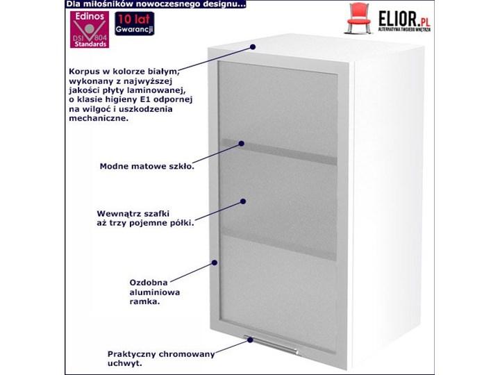 Kuchenna szafka z witryną prawostroną Limo 22X - biała Płyta MDF Kolor Biały